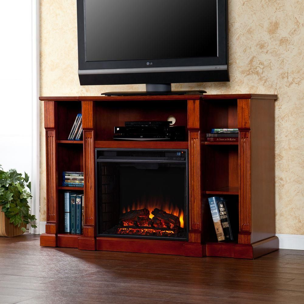 Scarlett in freestanding media electric fireplace in classic