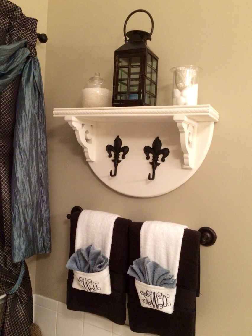 Timber & Twine bathroom pieces - display shelf and monogrammed ...