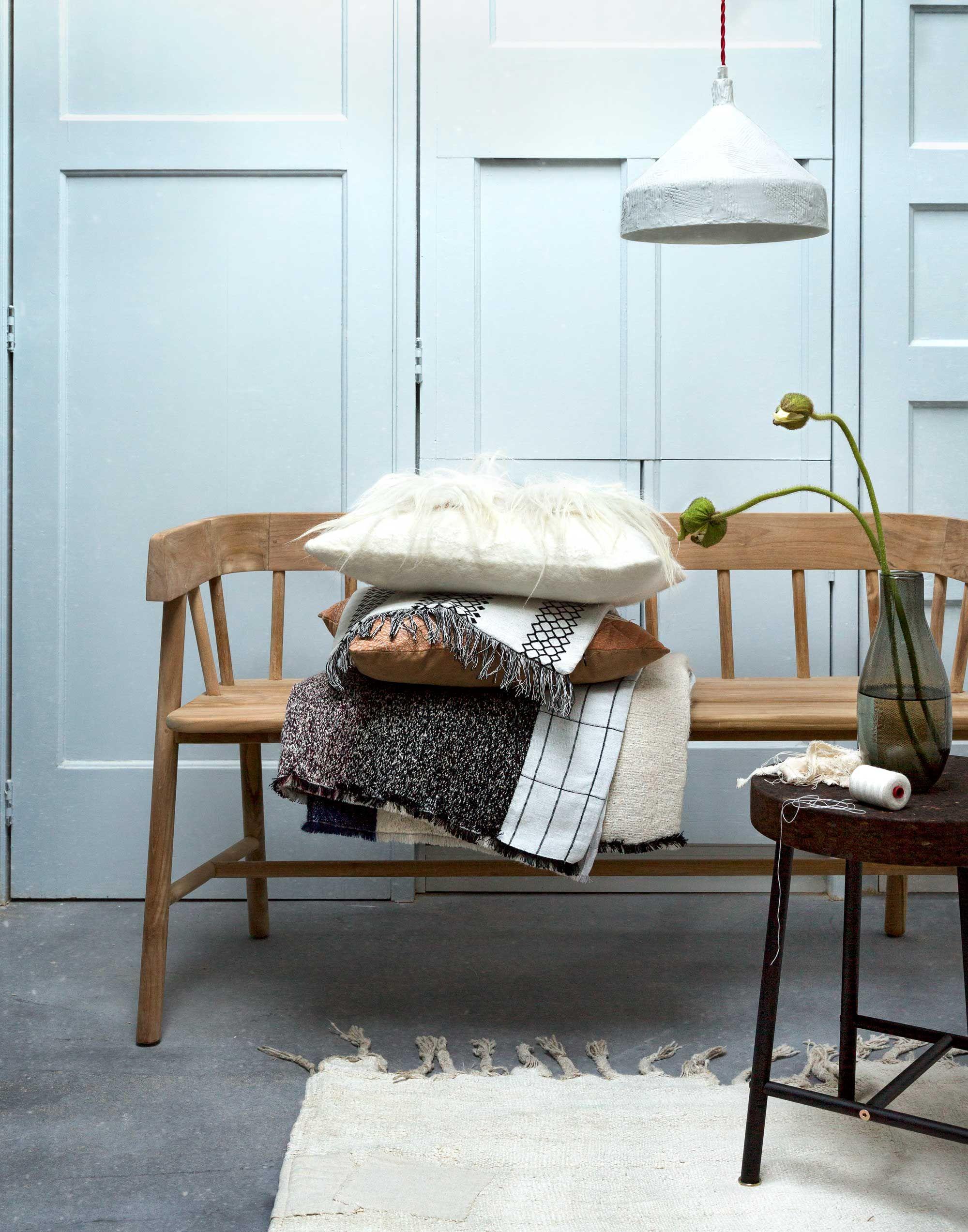 houten bankje met kussens home design amp style