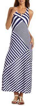 Charlotte Russe Striped Racerback Maxi Dress
