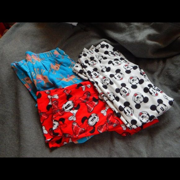 PJ BOTTOMS Super soft and comfortable pj bottoms! All in 9/10 condition! Have been worn! Minnie and mickey mouse are size small. Reindeer is size xs Disney Intimates & Sleepwear Pajamas