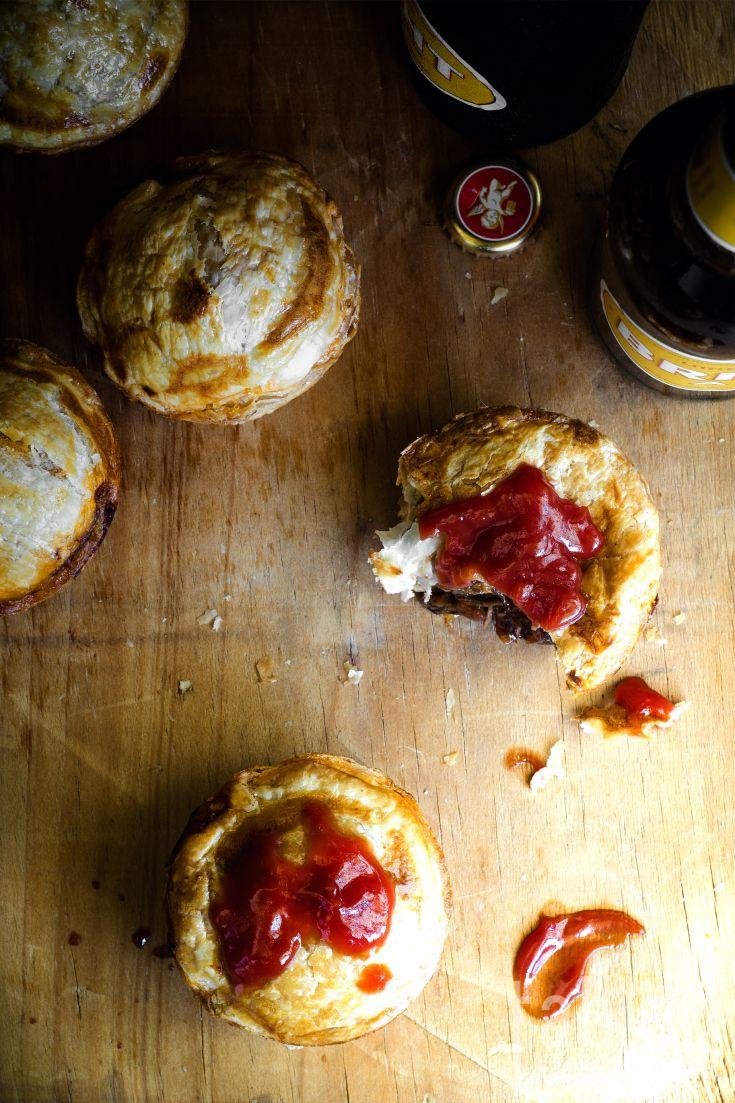 mini steak, onion & ale pies | table twenty eight | Ale pie