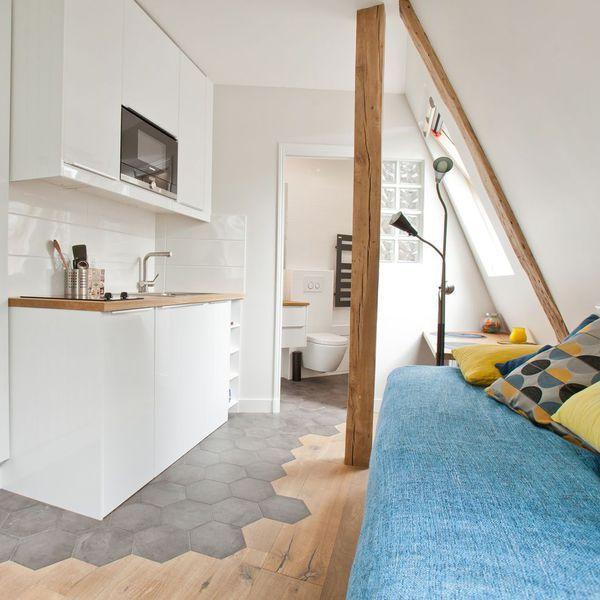 appartement paris 9e studio tudiant hyper optimis d co studio tudiant appartement. Black Bedroom Furniture Sets. Home Design Ideas