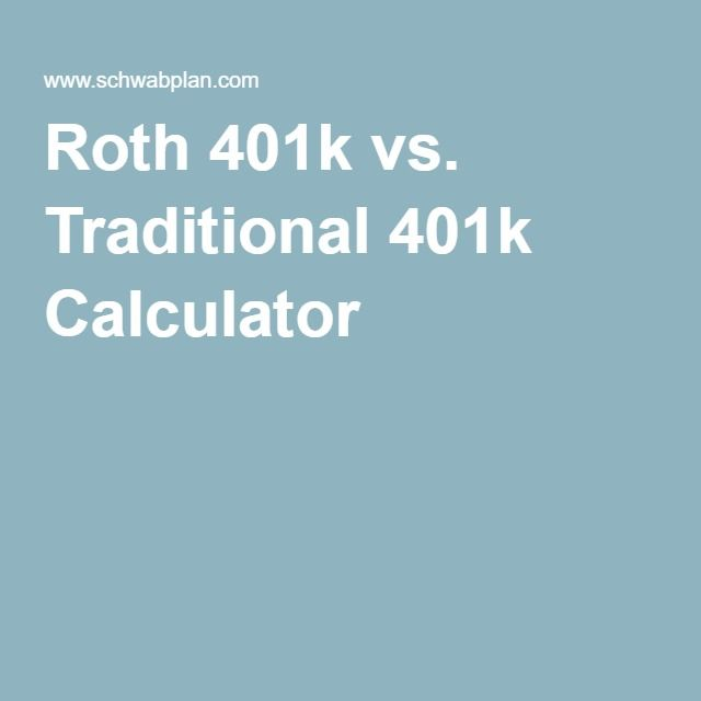 Roth K Vs Traditional K Calculator  Get Your Financial Lyfe