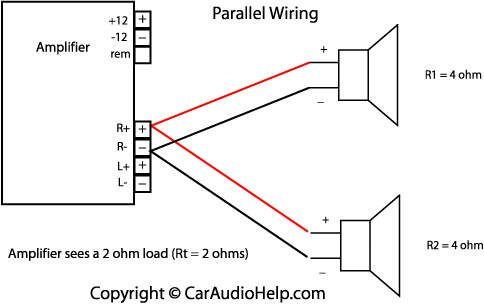 parallel speaker wiring art activities pinterest speaker wire rh pinterest com car audio speaker wiring guide jl audio speaker wiring diagram