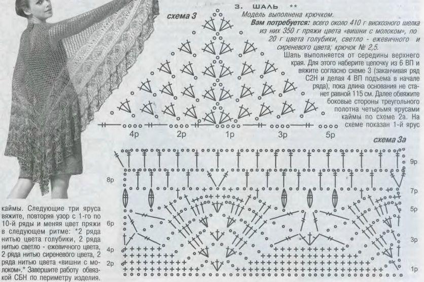 душистая располагается шали крючком со схемами и описанием фото выделяется его клюв