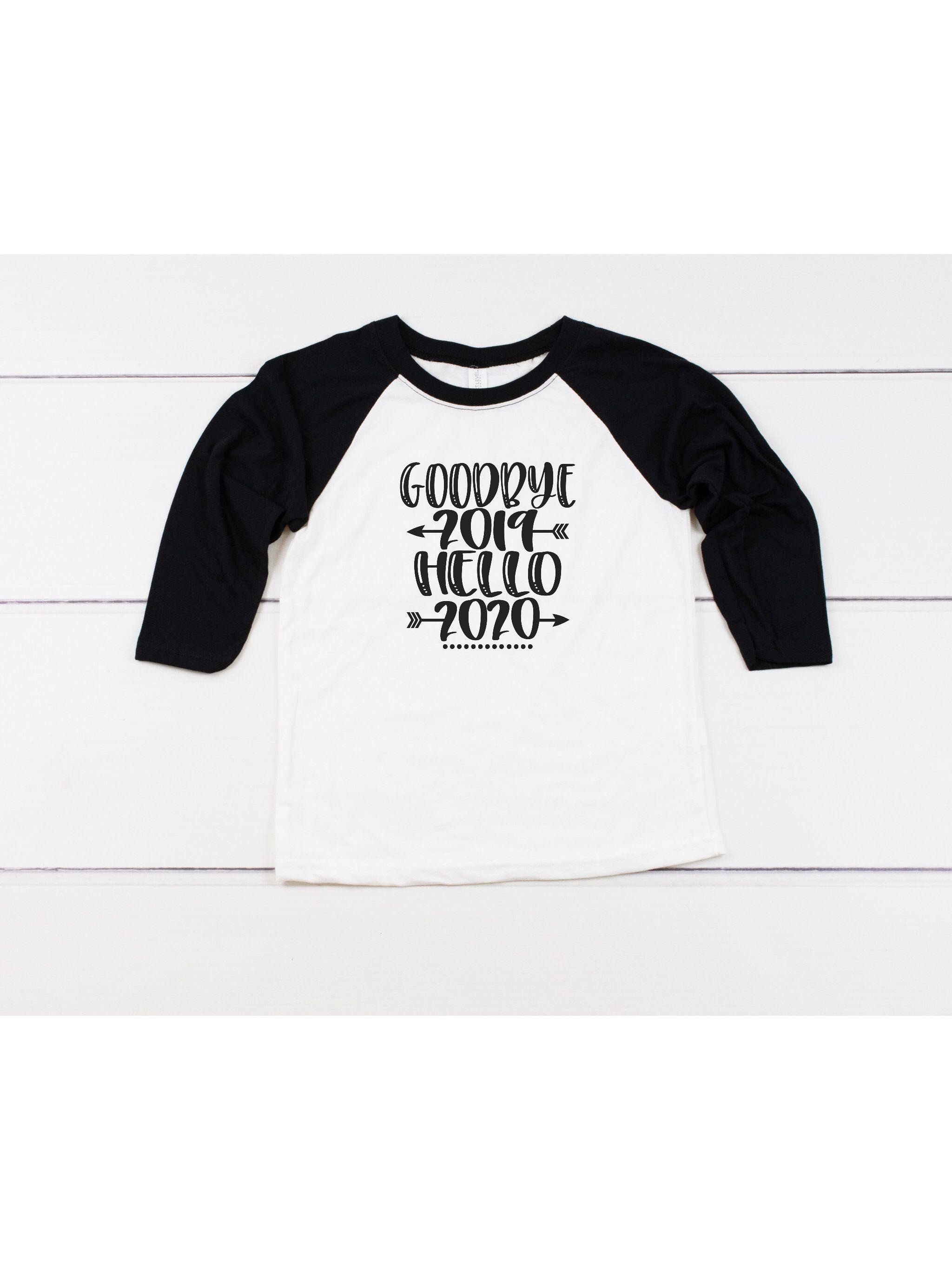 Kid's Goodbye 2019 Hello 2020 Shirt, Kid's New Year Shirt