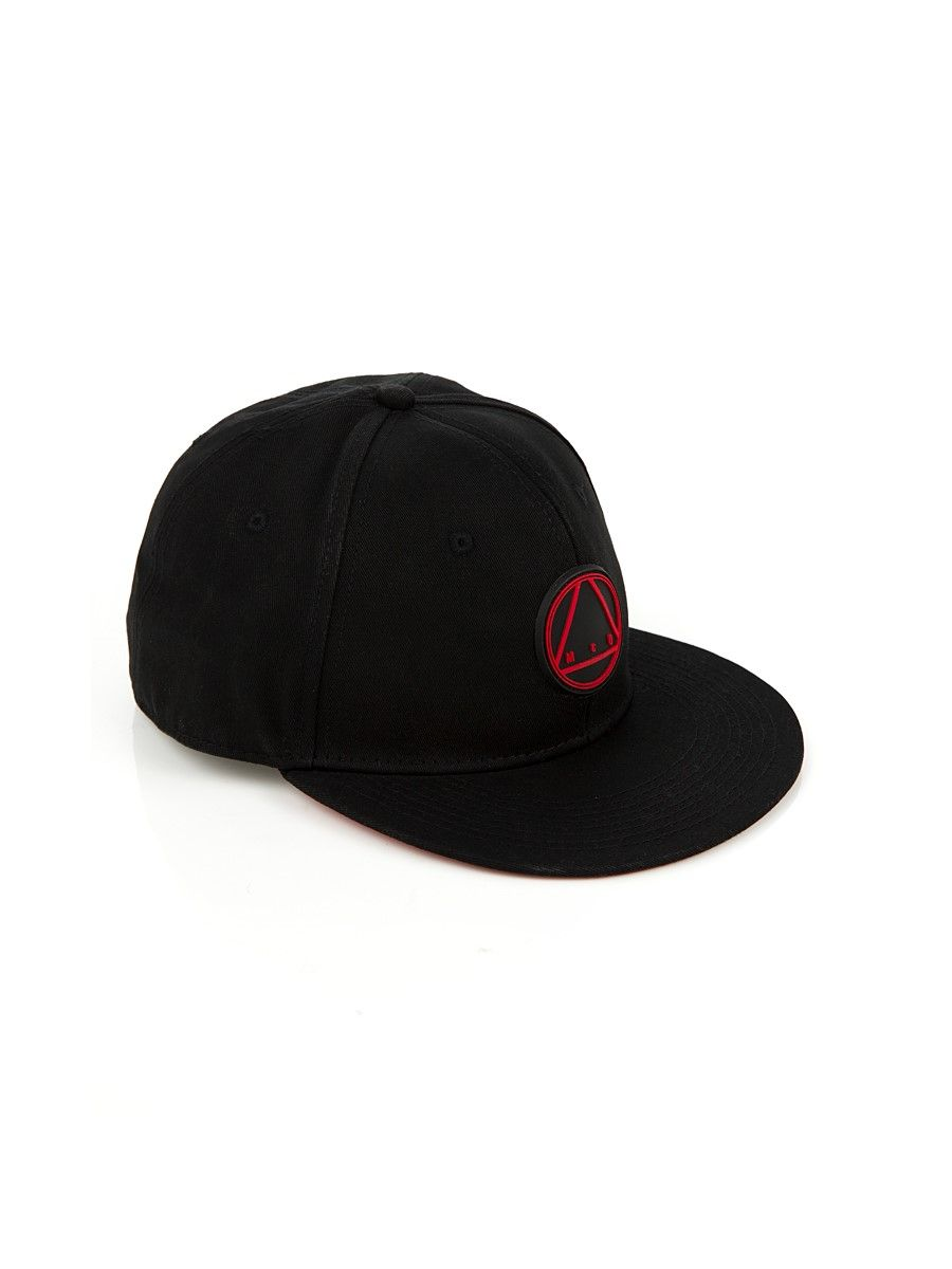 d4df44d5d8e McQ by Alexander McQueen Black   Red Logo Cap This most desirable designer  cap comes in