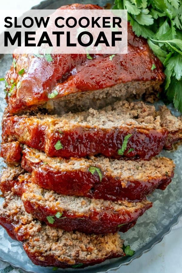 Slow Cooker Meatloaf - Tornadough Alli #crockpotrecipes