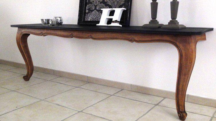 Fabriquer Une Console Sympa Avec Une Vieille Table Diy Vieilles Tables Mobilier De Salon Table Diy