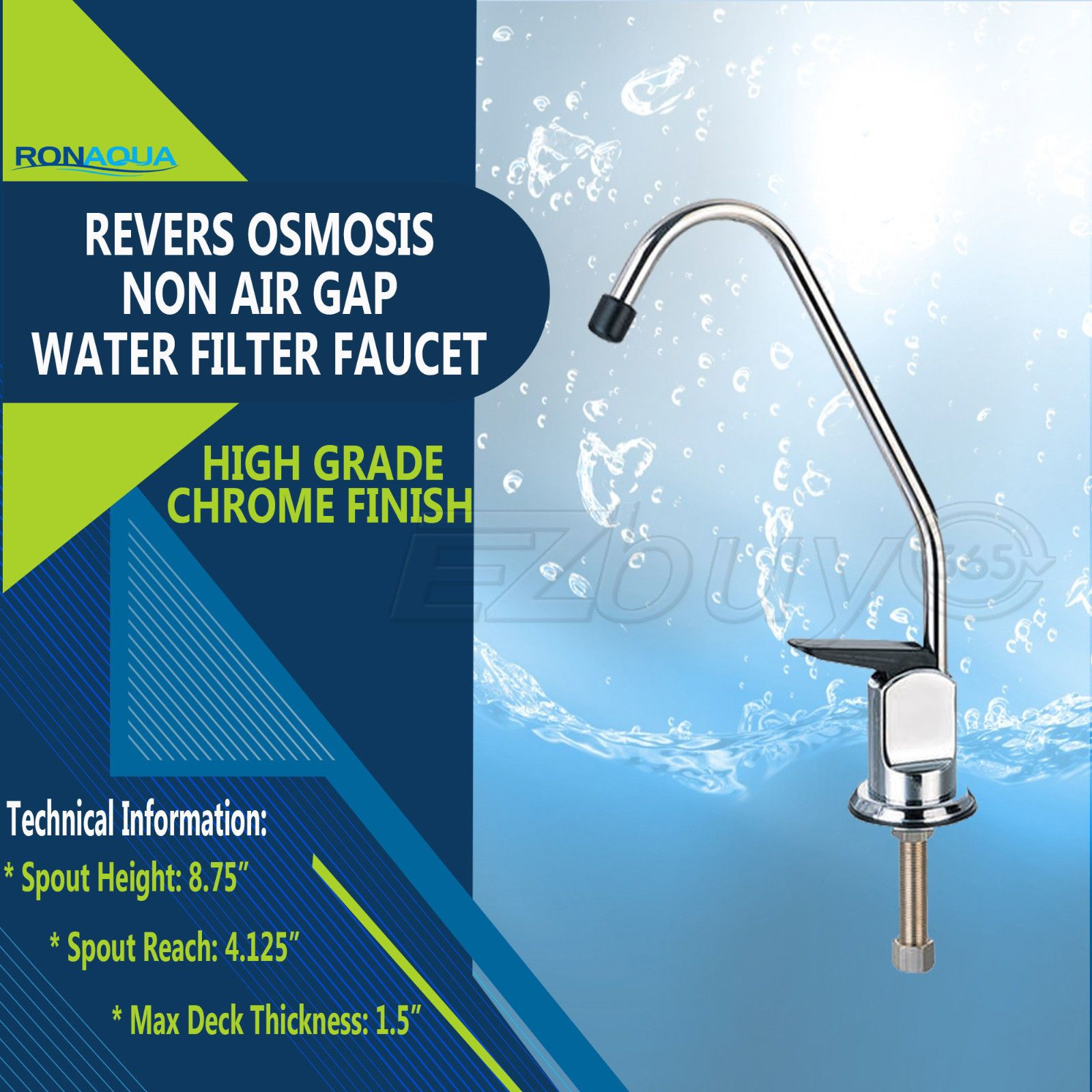 RO Reverse Osmosis Kitchen Sink Water Filter Faucet Fit