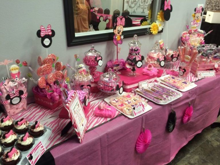 33 Minnie Mouse Themed Candy Buffet Ideas Baby Shower Themes Beautiful Baby Shower Shower Pics