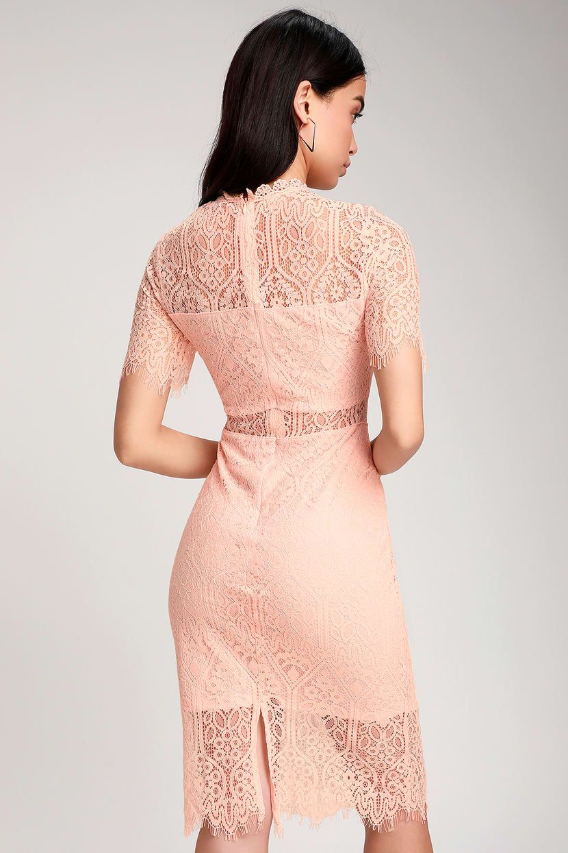 f98526df19ead Lulus | Remarkable Blush Pink Lace Dress | Size Large | 100 ...