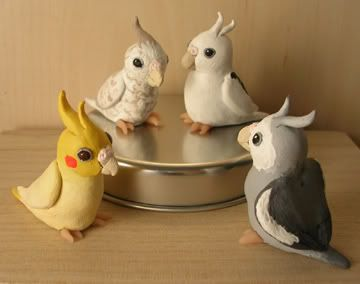Cockatiels Pottery Ceramics Polymer Clay Animals Pinterest Polymer Clay Polymers And Clay