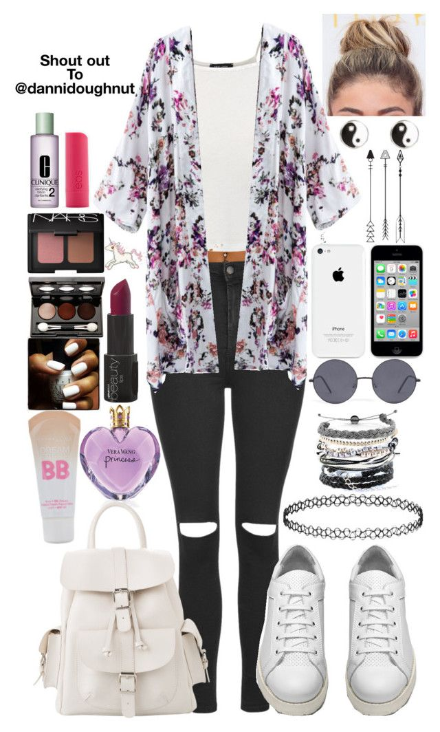 """""""Shout out to @dannidoughnut"""" by chloe12801 ❤ liked on Polyvore featuring NARS Cosmetics, Topshop, Acne Studios, MANGO, Forever 21, Domo Beads, River Island, Maybelline, Vincent Longo and Clinique"""
