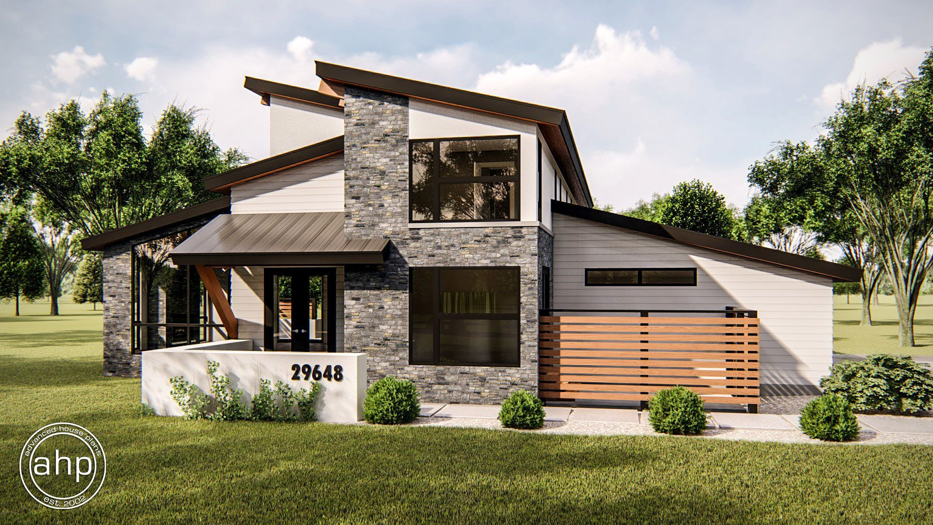 1.5 Story Modern House Plan | Regency in 2019 | Mountain ...