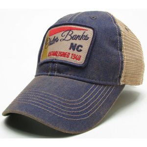 legacy script outer banks patch trucker hat cool hats