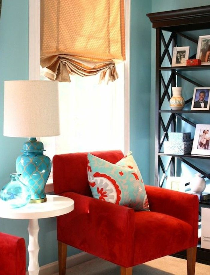 Pleasant Chair Red Blue Wall Color Dekoideen White Coffee Table Pabps2019 Chair Design Images Pabps2019Com