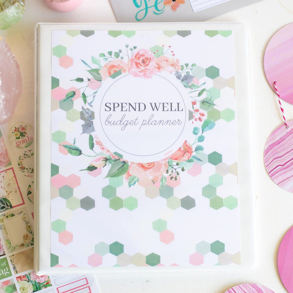 Printable Spend Well Budgeting Planner Geo Garden