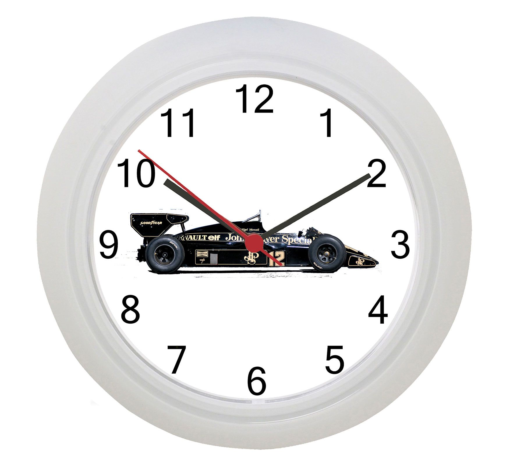 1984 Lotus Formula 1 Wall Clock Clock Wall White Wall Clocks