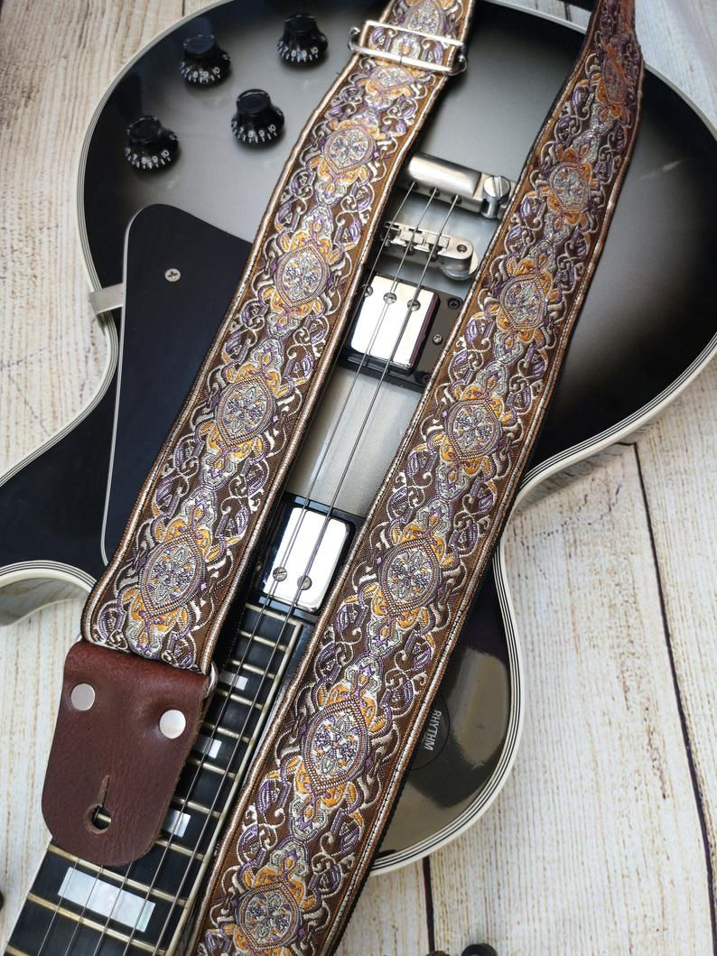Crossbody guitar strap for electric acoustic or bass