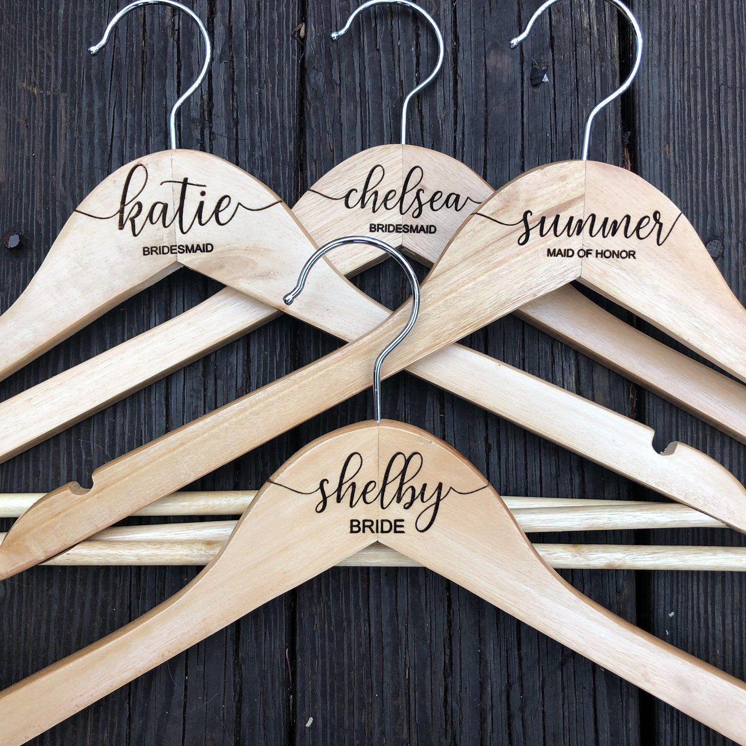 Wedding Dress Hangers Personalized Hangers Bridesmaid Hangers Bridal Gift Bridesmaids Gifts Wedding Gift Personalized Wedding Hanger