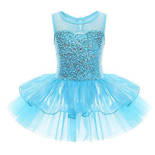 56dc1644d594 CHICTRY Girls Kids Sequins Ballet Dance Dress Gymnastics Tutu ...
