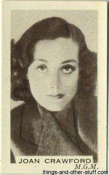 Joan Crawford - 1936 Facchino's Cinema Stars Trading Cards