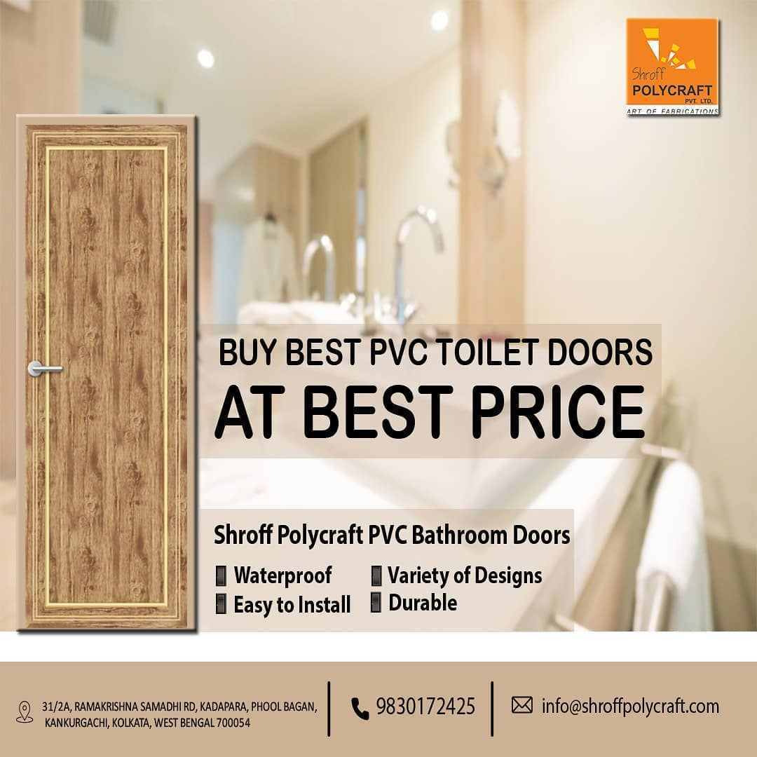 Are You Searching For The Best Quality Of Pvc Toilet Doors At Best Price If Yes Then Go For Shroff Polycraft Pvc Bathroom Doo In 2020 Bathroom Doors Upvc Toilet Door
