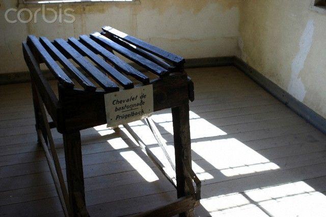 Prügelbock (beating rack) in former Natzweiler-Struthof concentration camp, France.