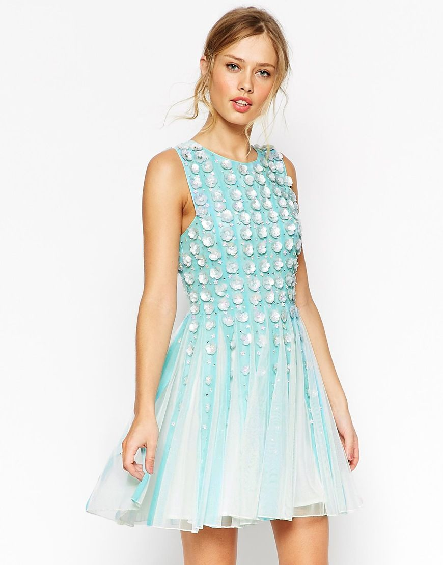 ASOS+SALON+3D+Floral+Strip+Skater+Dress | fashion fanatic ...