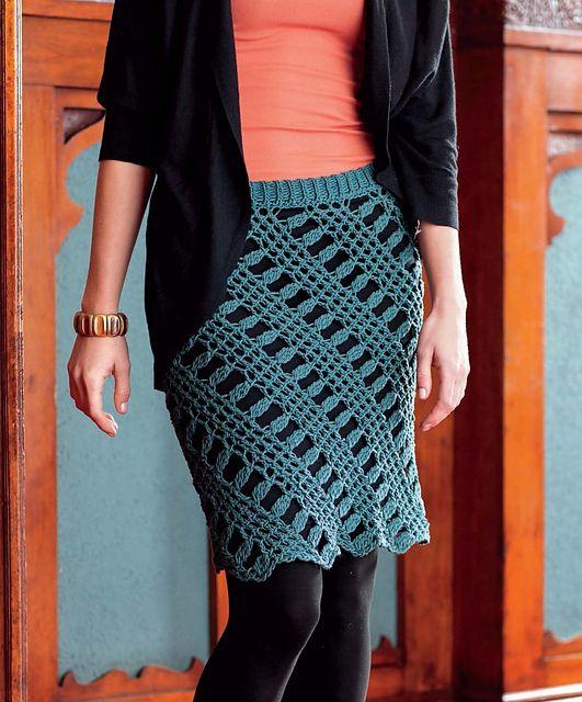 Shantay Skirt by Doris Chan - uses Tunisian crochet technique ...