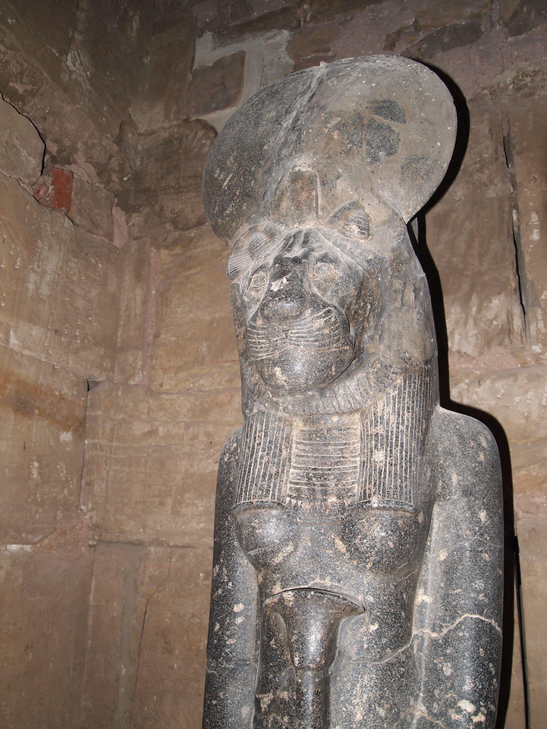 Ancient Gaia Statue karnak temple, temple of ptah, sekhmet shrine
