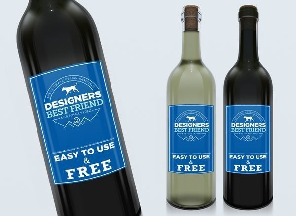 This Is A Free Wine Label Bottle Mockup With Modern And Clean Design. Just  Add Your Wine Label Using Smart Objects Layers In The PSD File.