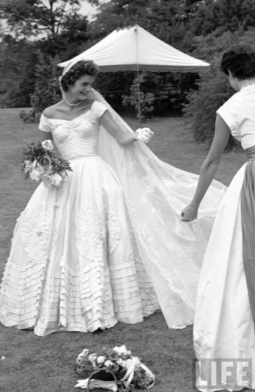 Onassis Jackie wedding dress pictures photo