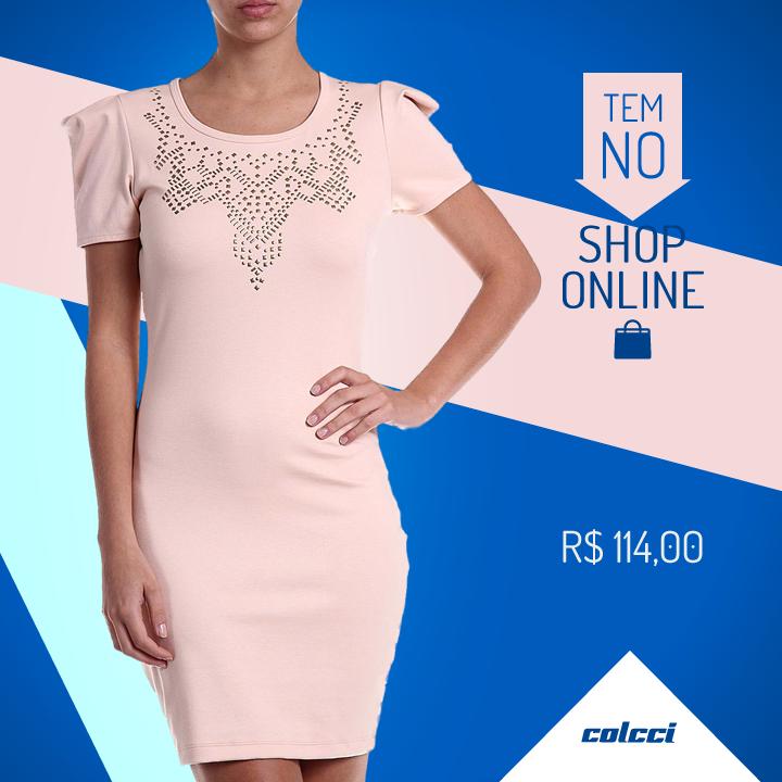 #dress #vestido #nudedress #pinkdress #pink #fashion #colcci