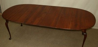 LEXINGTON BOB TIMBERLAKE CHERRY QUEEN ANNE DINING TABLE W 2 LEAVES