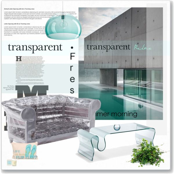 """""""See-Through: Transparent Home Décor"""" by betina-reali on Polyvore"""