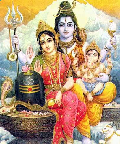 shiva dios destructor, parvati, genesha dios prosperidad