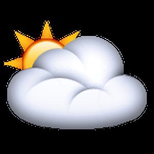 White Sun Behind Cloud