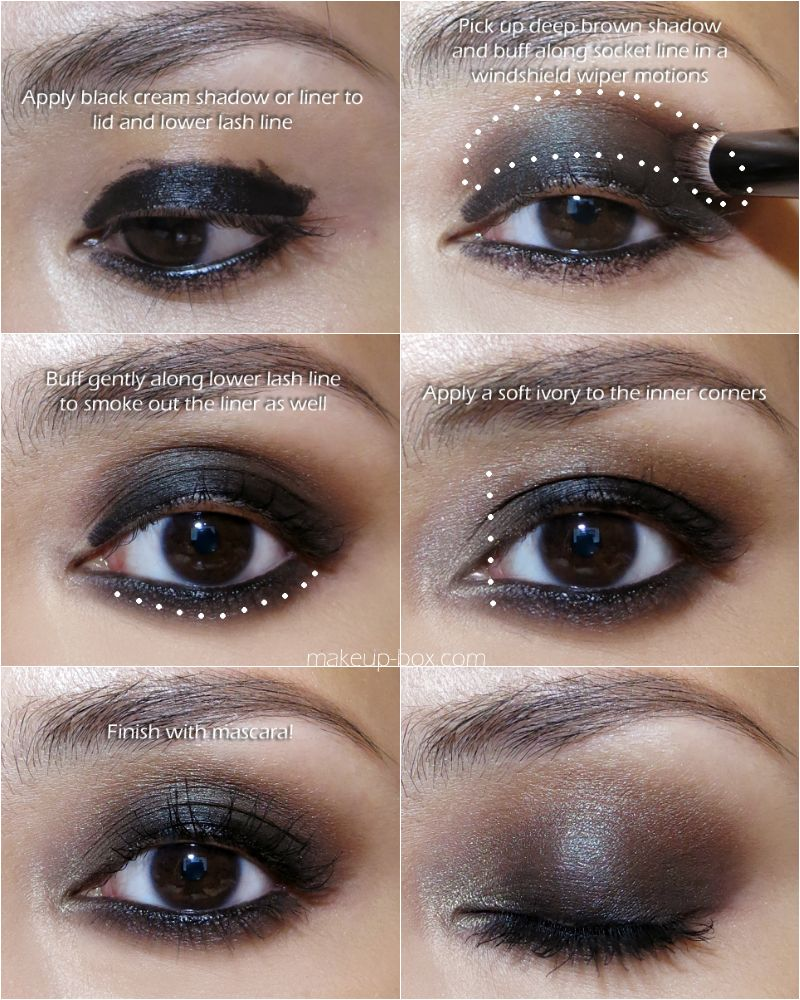 easy smokey eye! i'd use nyx jumbo pencil in black bean for