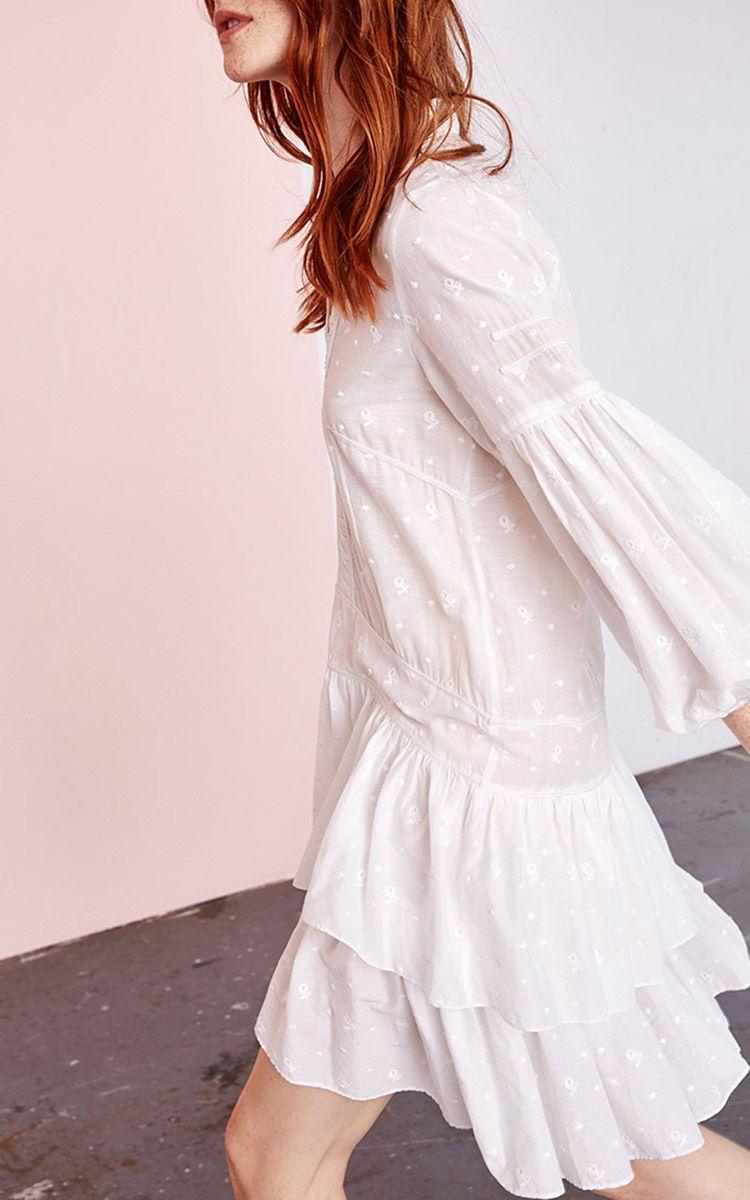 Jaclyn Ruffle Tiered Mini Dress By Ulla Johnson Now Available On Moda Operandi Dresses Fashion Mini Dress [ 1200 x 750 Pixel ]