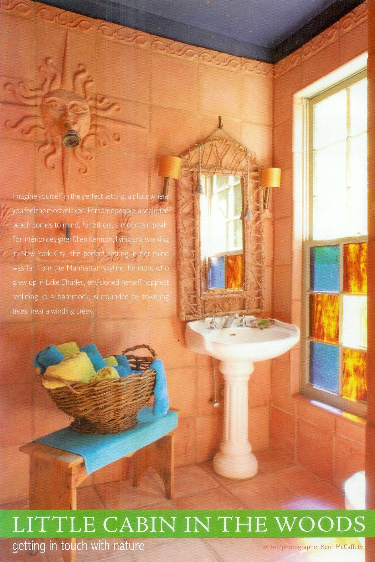 terracotta painted walls | eurobath has custom-made tiles to match