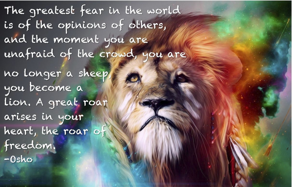 Heart Of A Lion Spiritual Inspiration Quote Mind Body Healing