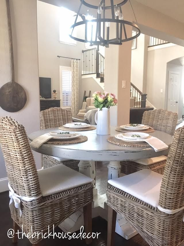DIY Chalk Paint Kitchen Table Dining Decor Home