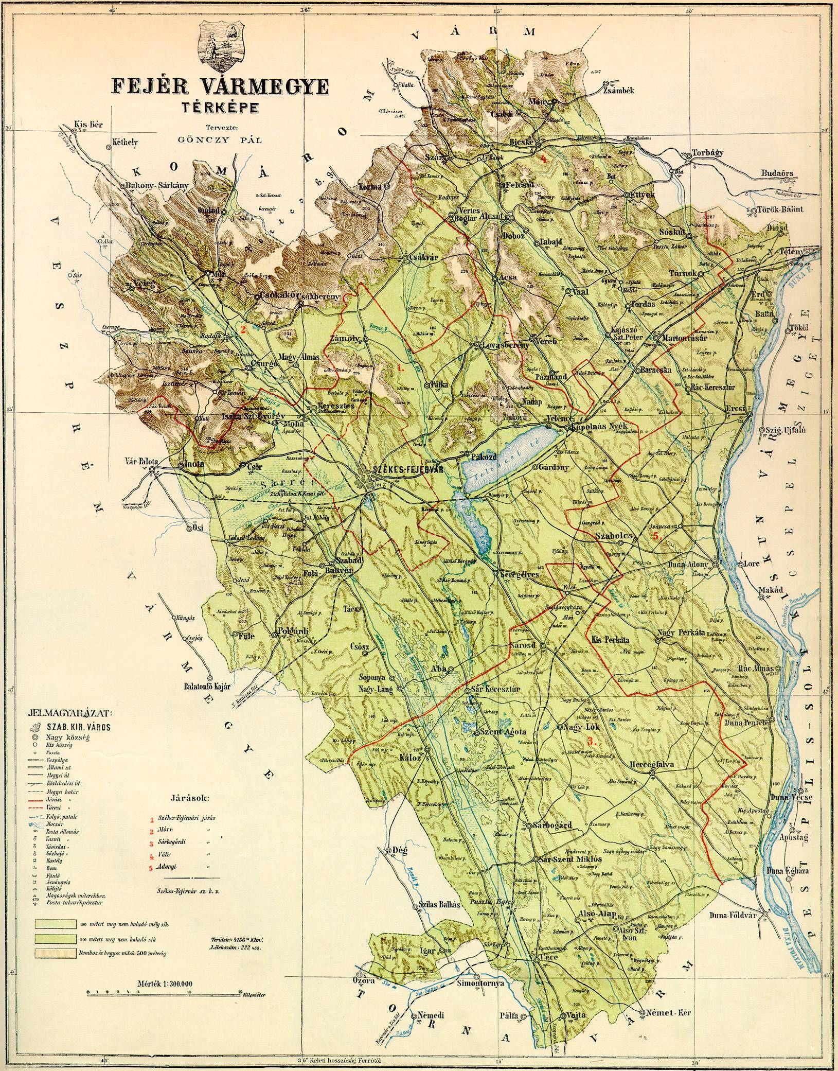 fejér megye domborzati térkép fejer. (1629×2081) | Old maps   64 Hungarian counties / 64  fejér megye domborzati térkép