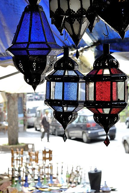 Coloured Glass Casablanca Morocco Moroccan Inspiration