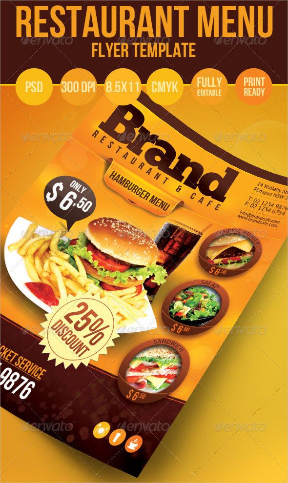 Photoshop Best Restaurant Menu  Restaurant Menu Design Menu