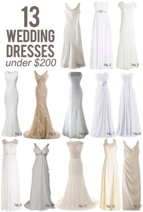 13 Wedding Dresses Under $200 | Pinterest | Wedding dress, Kiss and ...