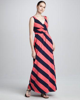 Lilly Pulitzer Sierra Mixed-Stitched Cardigan & Sloane Bias-Striped Maxi Dress - Neiman Marcus